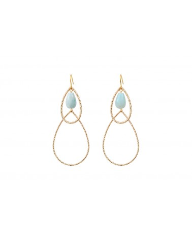 BY ZIA - Boucles d'oreilles EMMELINE Amazonite