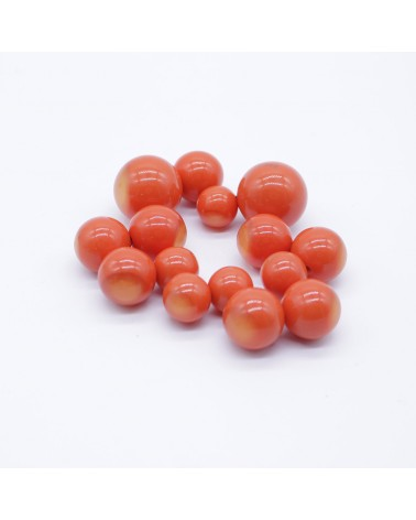 ZSISKA - Bracelet BOLAS 15 Beads Elastic Orange