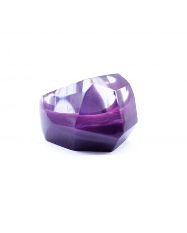 ZSISKA - Bague PETRA purple L