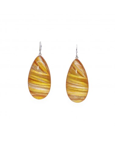 ZSISKA - Boucles d'oreilles EDEN 1 Bead shorthook Orange
