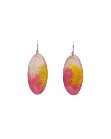 ZSISKA - Boucles d'oreilles DREAM 1 Bead shorthook Rouge