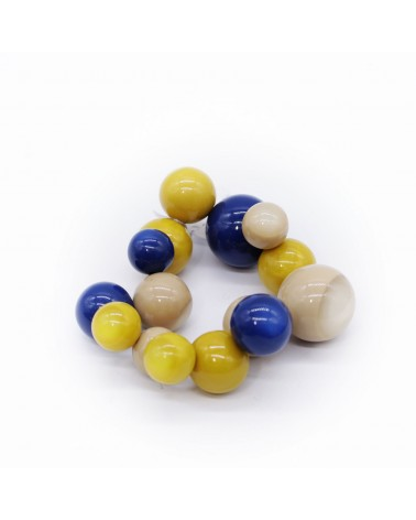ZSISKA - Bracelet BOLAS 15 Beads elastic Combination 3055