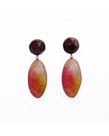 ZSISKA - Boucles d'oreilles DREAM 2 Beads pin Rouge