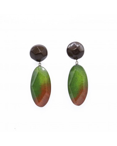ZSISKA - Boucles d'oreilles DREAM 2 Beads pin Vert