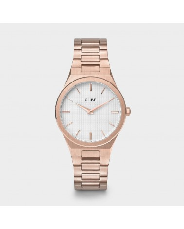 CLUSE - Vigoureux 33 H-Link Rose gold Snow White/Rose Gold