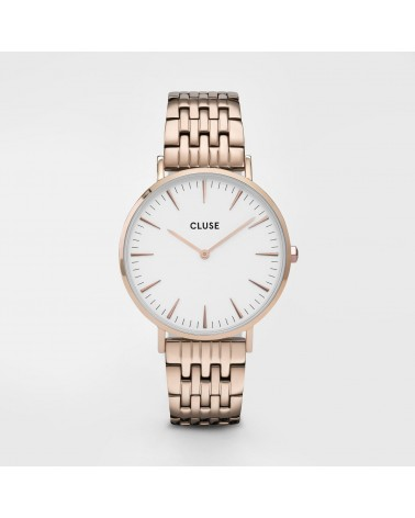 CLUSE - La Bohème Multi-Link Rose Gold White/Rose Gold