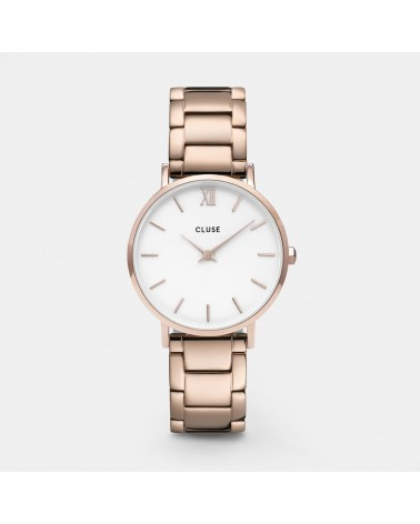 CLUSE - Minuit 3-Link Rose Gold White/Rose Gold