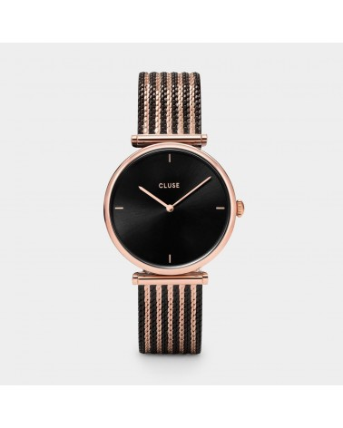 CLUSE - Triomphe Mesh Rose Gold Black/Black/Rose gold