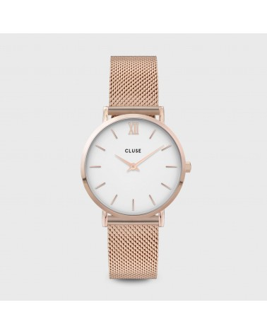 CLUSE - Minuit Mesh Rose Gold White/Rose gold