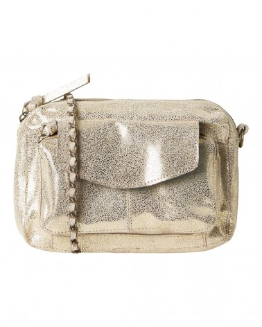 PIECES - PCNAINA Sac bandoulière cuir Gold Snow