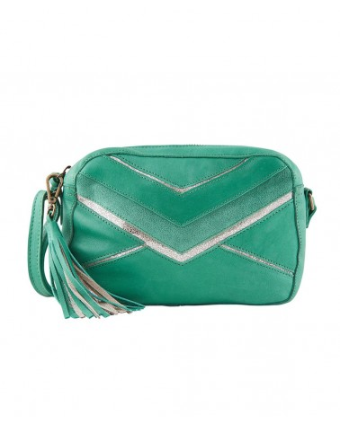 PIECES - PCANNI Sac bandoulière cuir Pepper Green