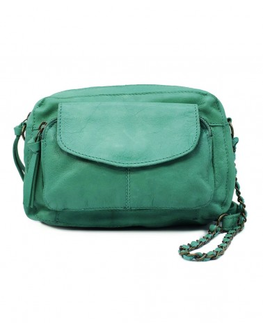 PIECES - PCNAINA Sac bandoulière cuir Pepper Green