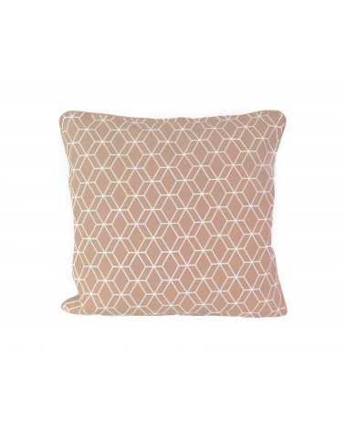 Coussin rectangulaire Heagon Gris Rose Present time