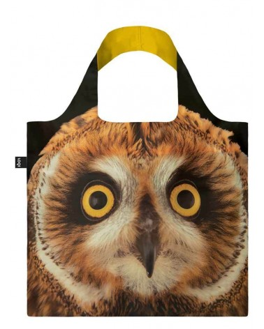 LOQI - Sac avec pochette zip National Geographic Photo Ark Hibou des marais