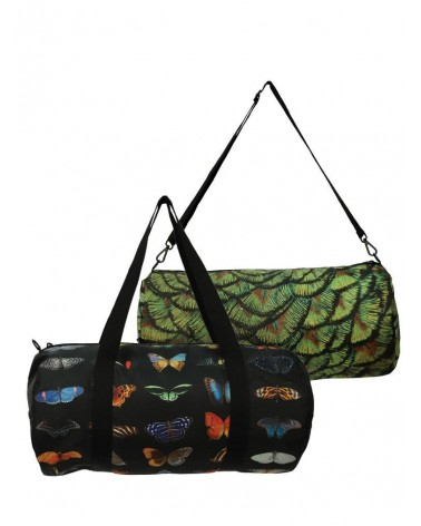 LOQI - Sac Weekender pliable et reversible National Geographic Photo Ark Papillons et paon