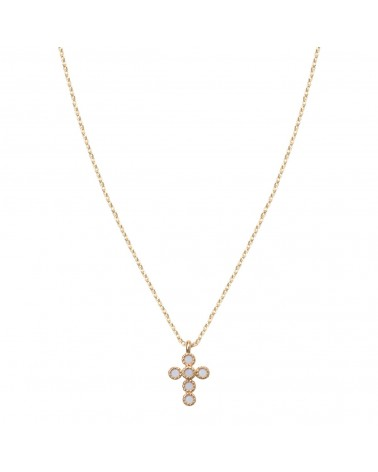 BY 164 - Collier Petite Croix Blanche