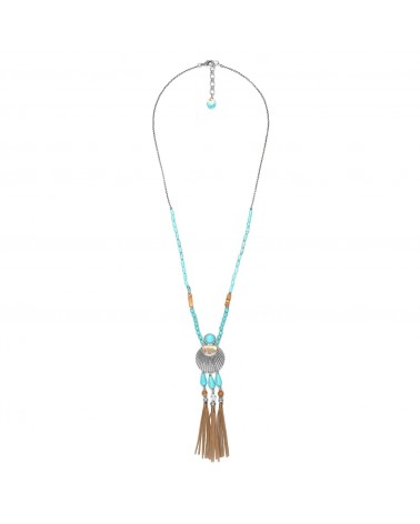Nature Bijoux - SURIGAO collier long 3 pompons