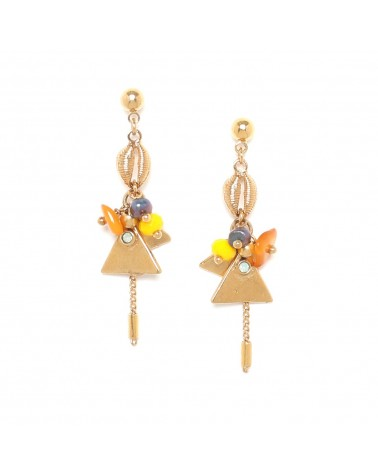 Franck Herval SIENNA boucles mini perles 1 chaine