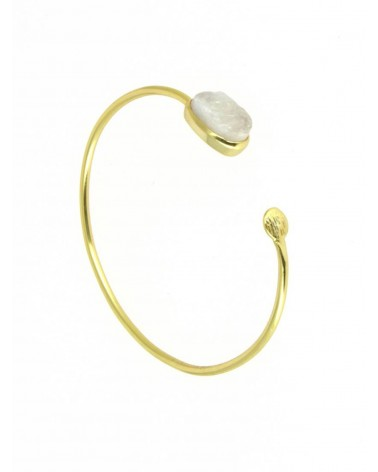 Azuni Aphrodite Open Bangle moon stone