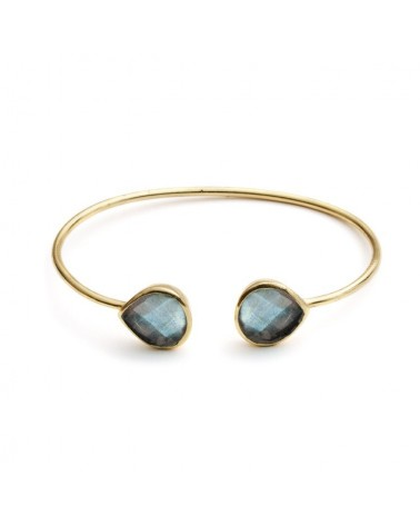Azuni Lashea Teardrop Labradorite Gold Plated Bangle