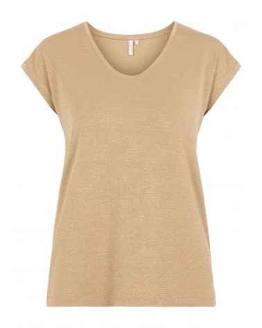 PIECES - PCBILLO TEE LUREX PAILLETTES T-SHIRT Natural