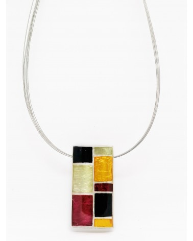 Collier rectangulaire multicolore 4757 Culture Mix
