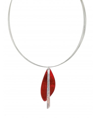 Collier résine rouge aluminium  4604RG Culture Mix