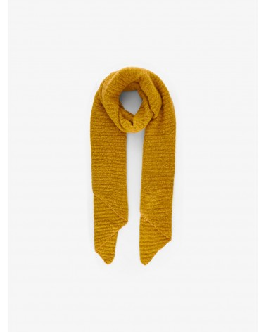 PIECES - Echarpe PCPYRON STRUCTURED LONG SCARF Nugget Gold