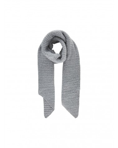 PIECES - Echarpe PCPYRON STRUCTURED LONG SCARF Light Grey Melange