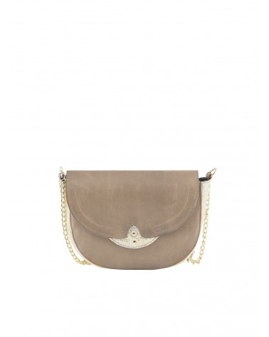 PIECES - PCSELINAS Sac bandoulière cuir Toasted Coconut
