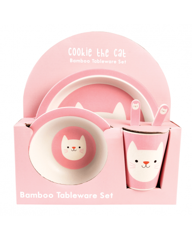 REX - Vaisselle Bambou Set de 5 Cookie The Cat