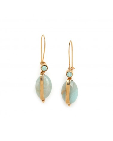 ANDREA boucles crochets amazonite sertie - Franck Herval
