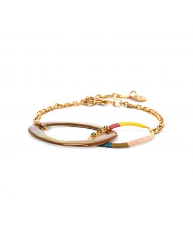 MELLY bracelet chaine 2 anneaux - Franck Herval