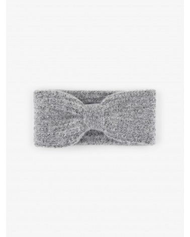PIECES - PCPYRON STRUCTURED HEADBAND BANDEAU EN MAILLE Light Grey Melange