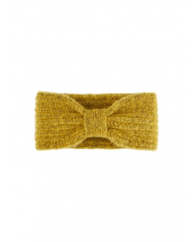 PIECES - PCPYRON STRUCTURED HEADBAND BANDEAU EN MAILLE Nugget Gold