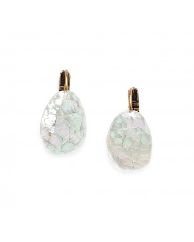 FOREST THERAPY boucles d'oreilles cracking - Nature Bijoux