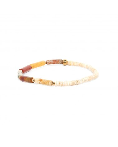 PIPELINE bracelet nuances rouge - Nature Bijoux