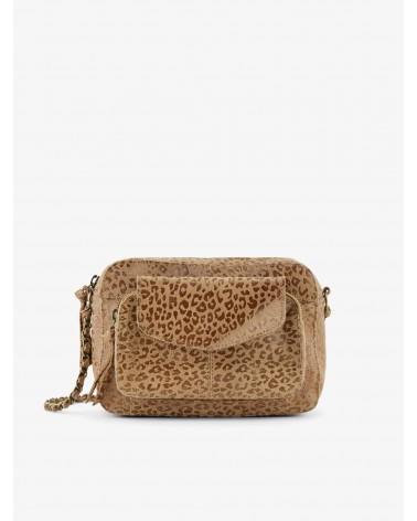 PIECES - PCNAINA Sac bandoulière cuir Toasted Coconut LEO