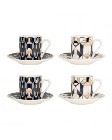 SEMA Design - Lot de 4 Tasses café NEO Bleu
