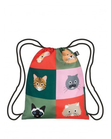 LOQI - Foldable backpack Stephen Cheetham Cats