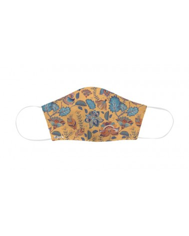 Fisura - Masque de protection faciale adulte Orange Paisley