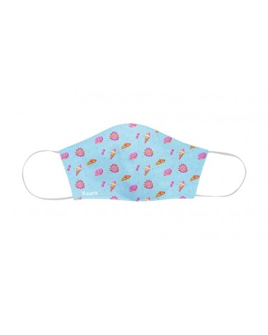 Fisura - Masque de protection faciale enfant Pizza & Ice Cream
