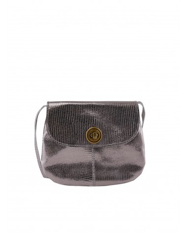 PIECES - PCTOTALLY ROYAL petit sac bandoulière cuir Bronze Mist