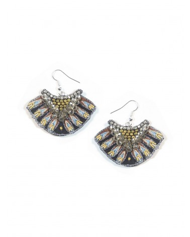 Earrings NIDHI Cappuccino NAHUA