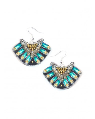 Earrings NIDHI Green NAHUA