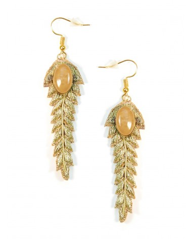Earrings LORIE Gold Pink NAHUA