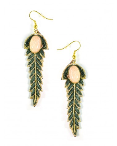 Earrings LORIE Military Pink NAHUA