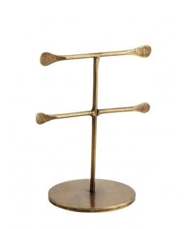 Hand forged jewellery stand Gold H 12.5 cm Madam Stoltz