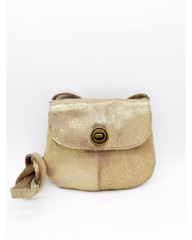 PIECES - PCTOTALLY ROYAL petit sac bandoulière cuir Gold Snow