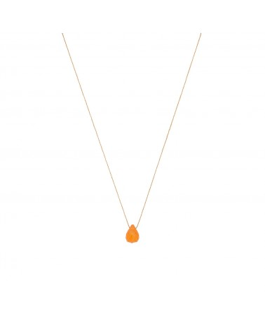 Carnelian Drop Necklace Une A Une